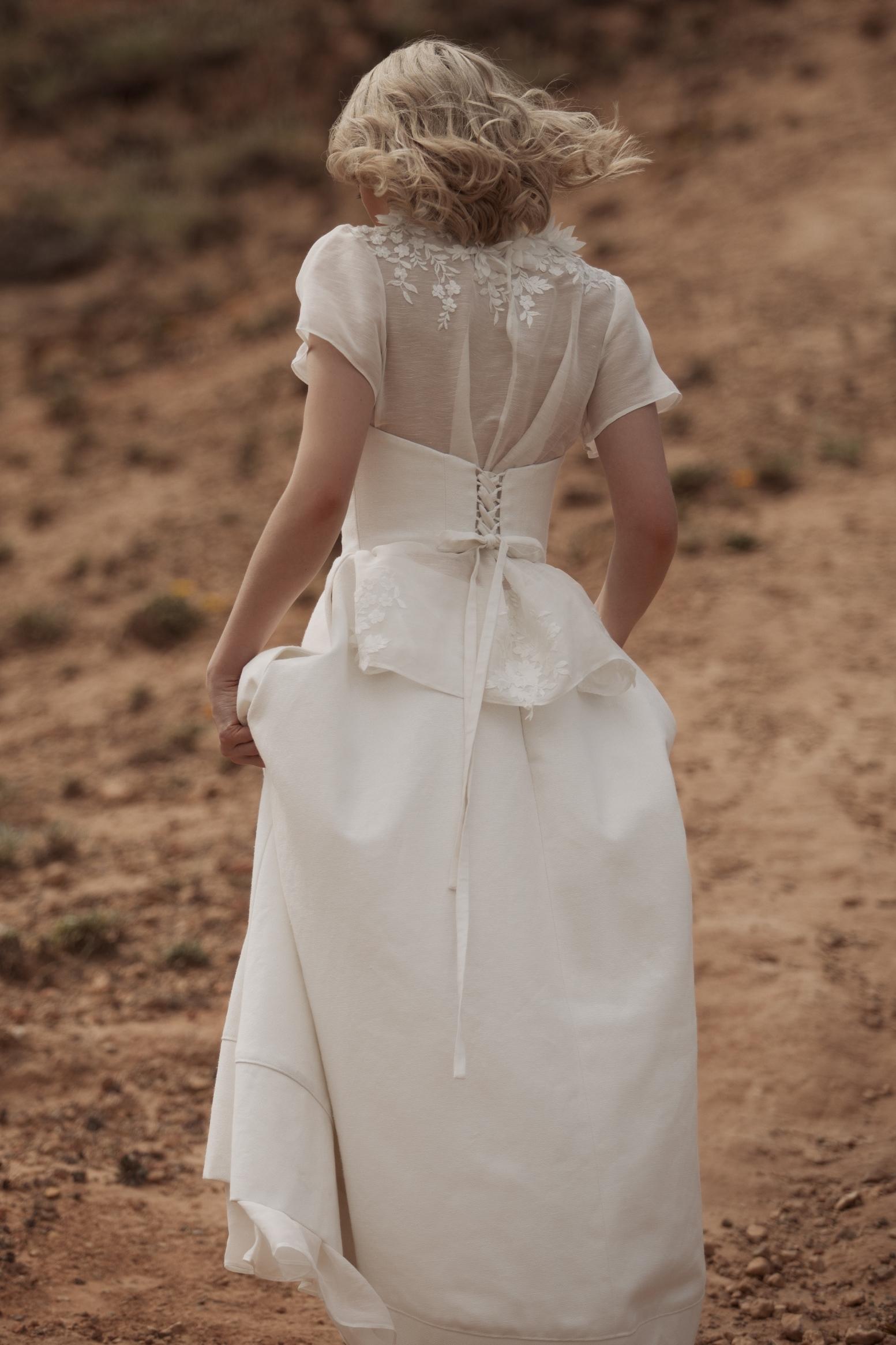 Natalya Dress ECO104T, Flora Top ECO116 BACK