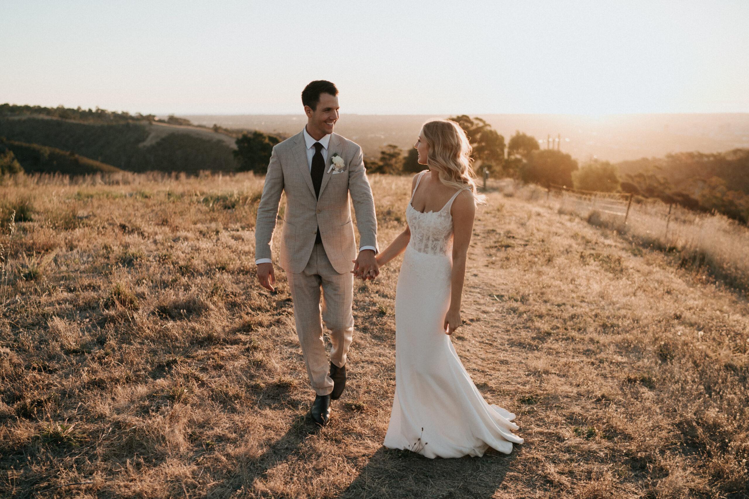 Kayla & Jonathon sunset photo