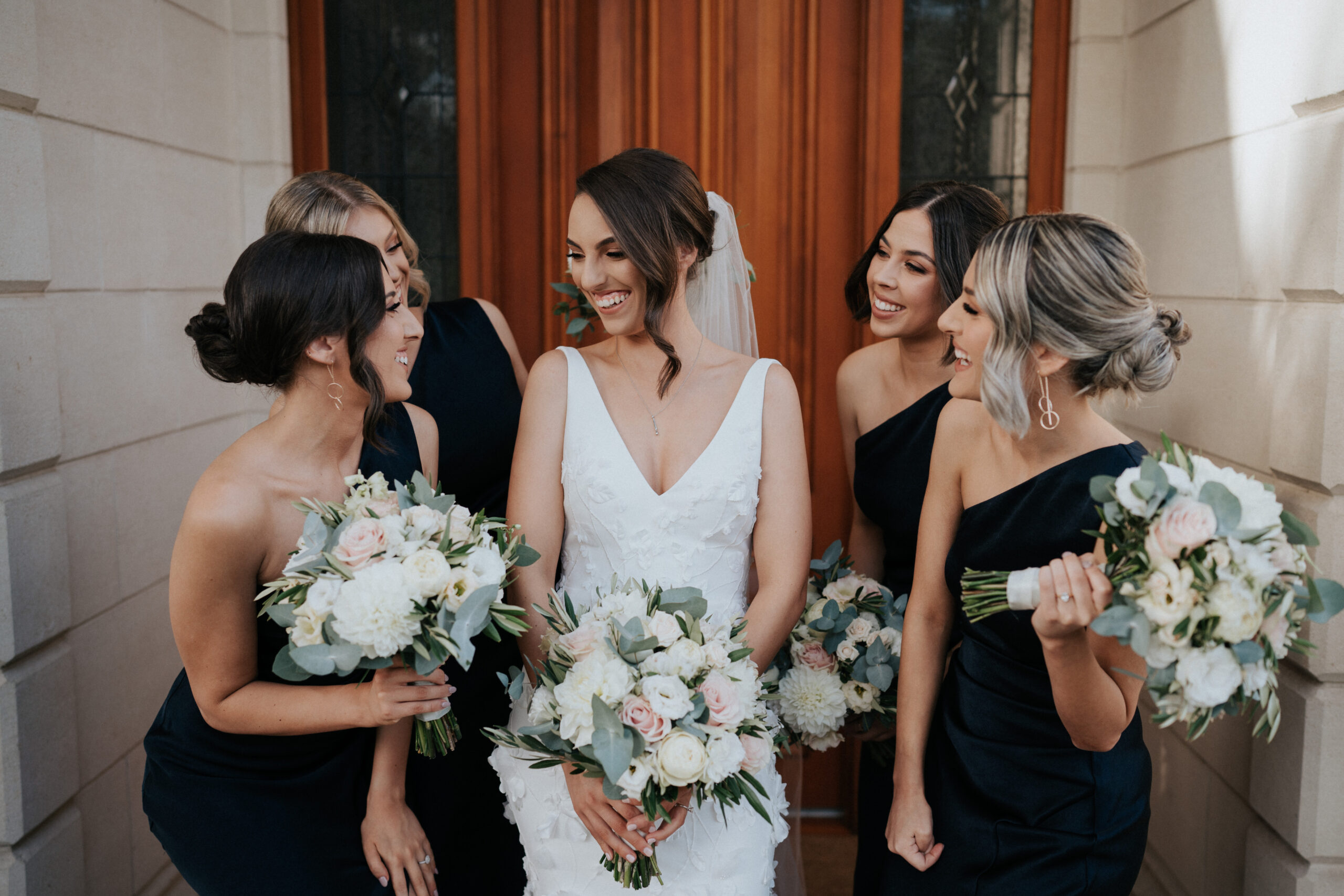 Emily and bridesmaids